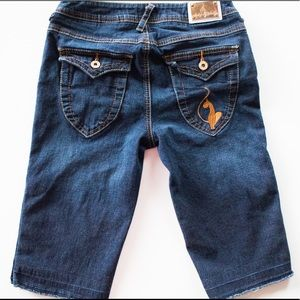 Baby Phat | Vintage 00's Dark Wash Bermuda Shorts